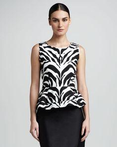 kate spade new york randy zebra-print top