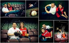 Cincinnati Reds Baseball engagement photo