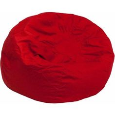 Oversized Bean Bag Chair, Multiple Colors, Red