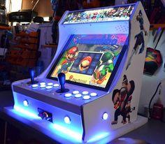 Mini borne d'arcade avec 16 systèmes et 3735 jeux vidéos intégrés