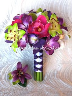 Real touch Orchids Lilies & Plumerias by BloomBridalCreations, $130.00