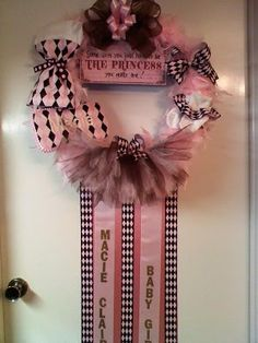 1000 images about baby hospital door hangers on pinterest for Baby girl hospital door decoration