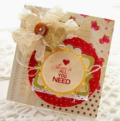 Pretty card.  Love the layers and the bow.