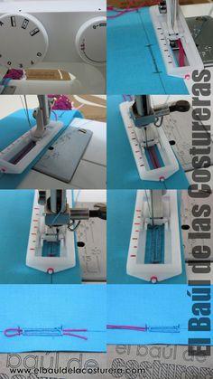 Cómo hacer un ojal con máquina de coser 4 pasos - Buttonholes sewing machine