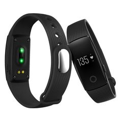 Fitness Tracker NandS® Hot New Release waterproof Smart Wristbands Activity Tracker Sleeping monitor Heart rate monitor Remote shoot with Multi-Functions work for Android and IOS ** You can get more details by clicking on the image.