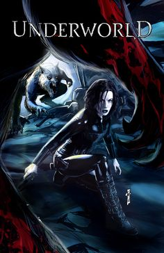 Underworld Evolution Color by Garrie Gastonny Just had to pin this. Underworld is one of my favorite fantasy films. Underworld Selene, Underworld Movies, Underworld Werewolf, Geek Movies, Action Movies, Vampire And Werewolf Movies, Female Vampire, Guerrero Ninja, Underworld Kate Beckinsale
