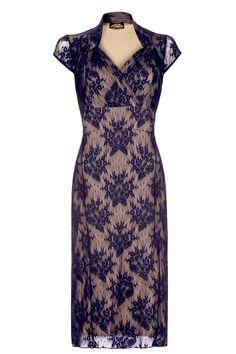 The Jasmine French Navy Dress by Nancy Mac Shop now at www.lux-fix.com