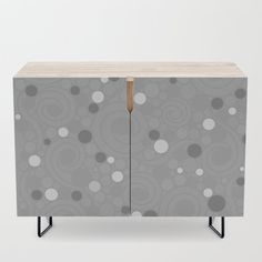 Whimsical Swirls Credenza by vanid Patterned Furniture, Office Cabinets, Bar Carts, Walnut Finish, Tv Stands, Swirls, Birch, Mid-century Modern, Whimsical