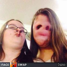 Possible explanation: Long awaited meeting of nose-faced girl and face-nosed girl. Taken moments before transplant surgery. | The 32 Most Unexplainable Images On The Internet