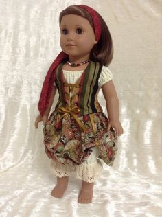 Steampunk/Pirate ensemble for your American by DollSizeDesigns. $89.00