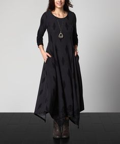 Look what I found on #zulily! Charcoal Damask Handkerchief Maxi Dress - Plus #zulilyfinds