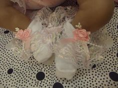 Dream 3 6 Months Baby Pink Hearts Roses Frilly Socks 0 2 Shoe Size | eBay