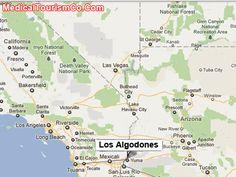 Los Algodones Map