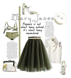 """""""Mary Janes"""" by emcf3548 ❤ liked on Polyvore featuring Nico, Dolce&Gabbana, CÉLINE, Kenneth Jay Lane, Jenna Leigh, Reeds Jewelers, Chicwish and Forever New"""