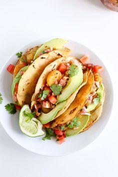 Vegan Potato Tacos (Tacos de Papa)