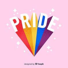 Pride Day, Gay Pride, Autodesk Sketchbook Tutorial, Graphic Design Templates, Rainbow Aesthetic, Rainbow Flag, Bunt, Happy, Simple Lettering