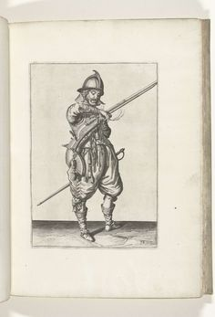 Soldaat op wacht met een roer die zijn lont pakt (nr. 38), ca. 1600, Jacob de…