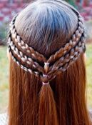 Triple Braided Hairstyle