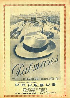 I love hats, I love prints, I love vintage. This pin is a hat trick! Palmares Hats, 1947