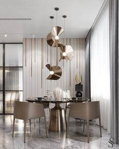 Casa Vargas Padilla The minimalist Bulthaup kitchen with a small Cattelan dining table is separated Modern Dining Room Tables, Luxury Dining Room, Glass Dining Table, Dining Table Chairs, Dining Room Design, Dining Rooms, Dining Area, Kitchen Tables, Design Kitchen