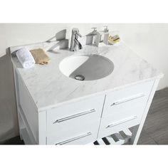 Eviva Natalie 36 Single Modern Bathroom Vanity Set Base Finish