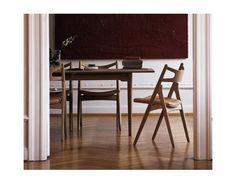 sawhorse chair by Hans Wegner.