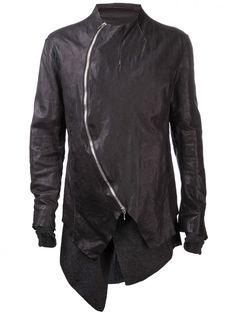 INCARNATION - Leather Curve Zip Jacket - 1731-4501-AB BLACK - H. Lorenzo