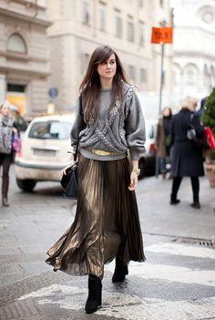 С чем носить юбку-плиссе: 15 стильных примеров 10