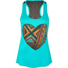 Full Tilt Ethnic Heart Womens Tank ($12) ❤ liked on Polyvore