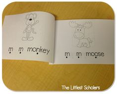 Letter Mm emergent reader! Great for practicing reading the sound and word production
