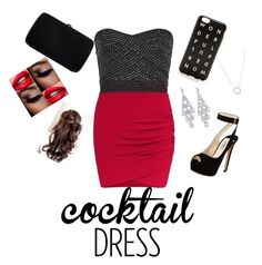 """""""Cocktail Dress"""" by jujubees51901 on Polyvore featuring Prada, Sergio Rossi, J.Crew, Carolee and Michael Kors"""
