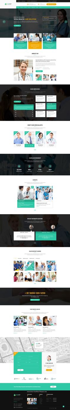 Medico is clean and modern design #PSD template for #hospital and #health care service website with 15 layered PSD pages to live preview & download click on Visit