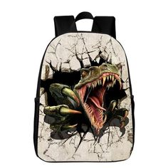 Hot Sale Fashion Oxford 16 Inches Printing Animal Dinosaur Kids Baby School  Bags Children Backpack for Teenager Boys Bookbag 91649b88ee7a8