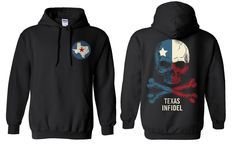 Texas Infidel Skull Hoodie from All American Apparel