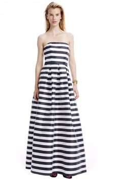 917ee24c9159 Striped Pleated Ball Gown