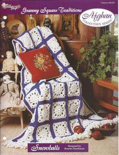 (◡‿◡✿) Crochê Avó Quadrado Afegão Padrão Casa itens decorativos Criações -  /  (◡‿◡✿) Crochet Granny Square Afghan Pattern Home Knacks Creations -