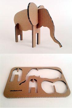 Slon z kartonu