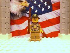 First World War American Marine w/ SABR, backpack & Printed Ranger-hat - LEGO
