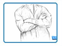 How to draw a person with their arms crossed head