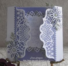 pamscrafts: Make A Wish. Fancy Fold Cards, Folded Cards, Wedding Anniversary Cards, Wedding Cards, Pop Up Greeting Cards, Tattered Lace Cards, Card Creator, Spellbinders Cards, Step Cards