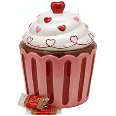 Sweetheart Ceramic Jar – 100 Cookies, Who can resist a cupcake? And your family will love reaching in to discover the  sweet goodness inside. Includes Biscoff with Chocolate single packs. Net wt. 25  oz., 100 cookies.