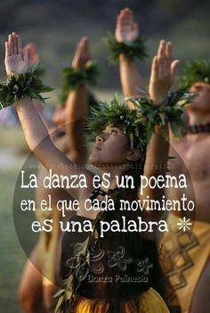 The dance is a poem, in each movement is a word. Islas Cook, Hawaiian Dancers, Leaf Crown, Drawing Stuff, Hula, Crowns, Dancing, Words, Movie Posters