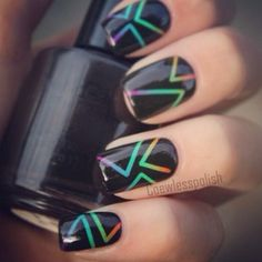 striping tape nail art  | Check out http://www.nailsinspiration.com for more inspiration!