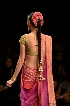 low back choli - Neeta Lulla Lakme  more inspiration @ http://www.ModernRani.com