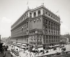 Macy's Building, New York, c1908, Vintage Photo