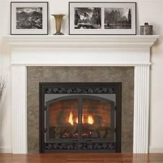 """This one comes in unfinished wood so we could stain and varnish it to match-- Empire 48"""" Profile Wooden Mantel with Standard Trim  -  Unfinished  - MFL-48-UH"""