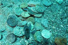 Sunken treasure found in the sea of Sicily.