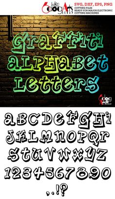 Graffiti Letters Digital Cut Files Svg Dfx Eps Png Silhouette