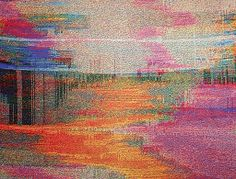 Amazing Glitch Textile by Phillip Stearns