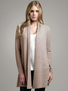 2f37fe4adf Cashmere open cardigan by White and Warren. White And Warren
